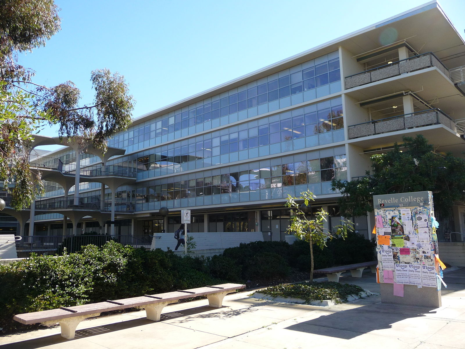 A photo of UCSD's Physics Department -- Mayer Hall Annex